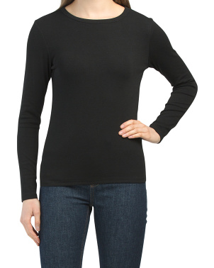 Baby Ribbed Crew Neck Top