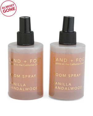 Set Of 2 Vanilla Sandalwood Room Fragrance Sprays
