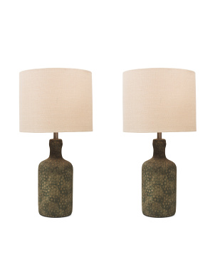 Set Of 2 Norport Concrete Table Lamps