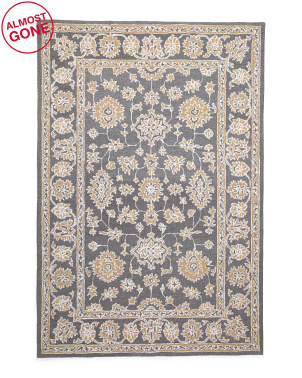 5x7 Wool Blend Medallion Hand Tufted Area Rug