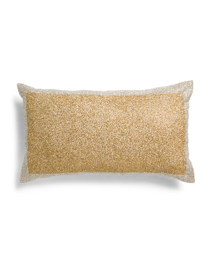 14x24 Crystal Beading Pillow
