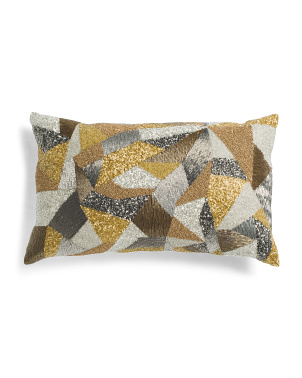 Made In Usa 14x24 Decorative Pillow With Beading