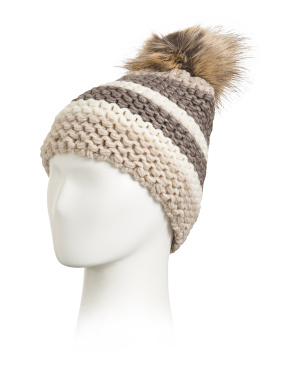 Made In Italy Big Cuff Chunky Beanie