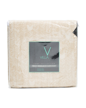 French Herringbone Duvet Cover