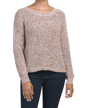 Long Sleeve Marled Sweater