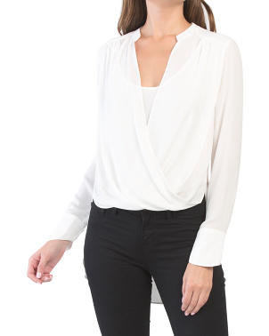 Jaklyn Draped Front Blouse