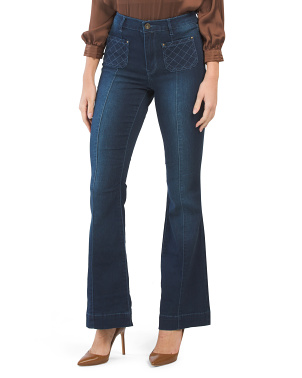 Juniors Wide Leg Front Pocket Jeans