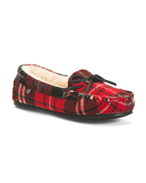 Moccasins With Faux Fur Lining