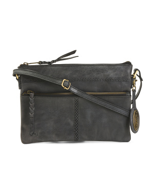 Leather Leonore Crossbody