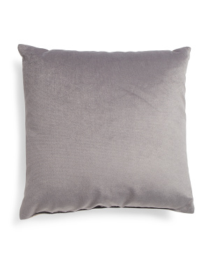 Made In Usa 22x22 Velvet Front With Textured Back Pillow
