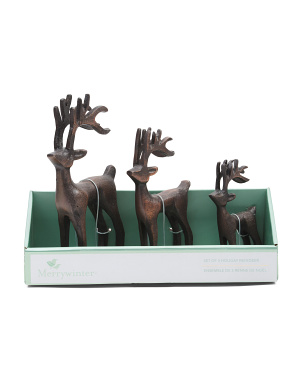 Set Of 3 Reindeer Family