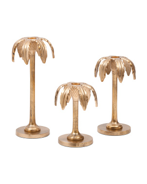 3pc Palm Candle Holder Set