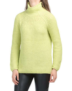 Joseph Wool Blend Turtle Neck Sweater