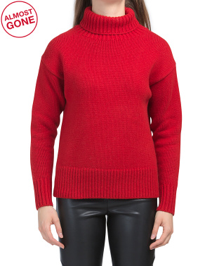 Wool Lunet Turtle Neck Sweater