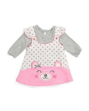 Infant Girls 2pc Bodysuit And Jumper Set