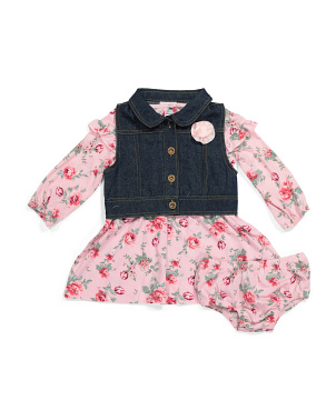 Infant Girls Vest & Dress Set