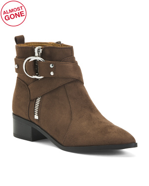 Booties With Buckle Detail