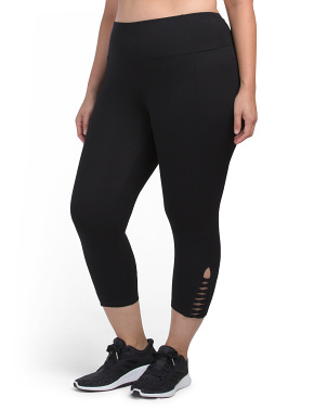 Plus Strappy Detail Capris