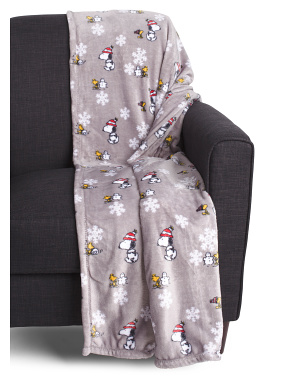 Snoopy And Woodstock Blanket