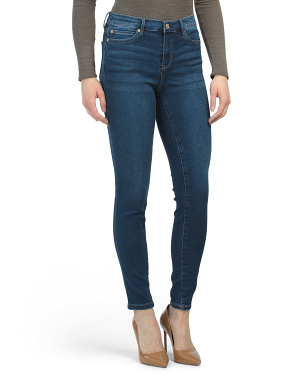 High Waist Soft Knit Denim Jeans