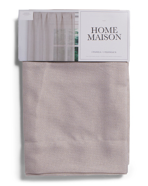 38x84 Set Of 2 Felix Linen Look Metallic Curtains