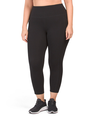 Plus Tummy Control Leggings With Pockets