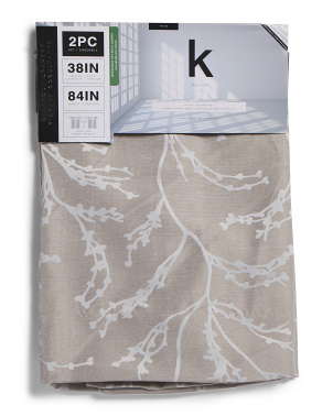 38x84 Set Of 2 Woven Branch Blackout Curtains