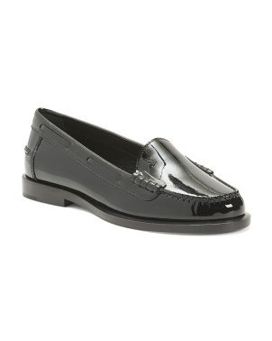 Made In Italy Patent Leather Moccasins