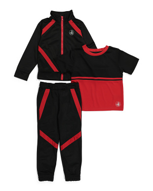 Little Boy 3pc Zip Up Active Set