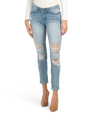 Juniors Destructed Vintage Reunion Jeans