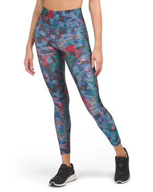 Made In Usa High Waist Printed Ankle Leggings