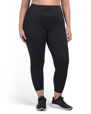 Plus One Side Peach High Waist Ankle Leggings