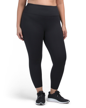 Plus High Waist Ankle Leggings