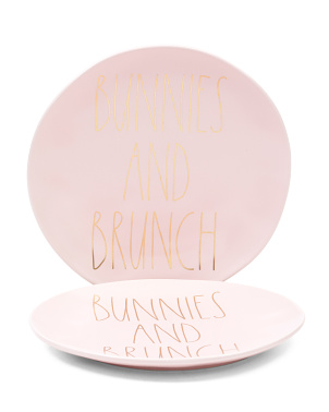 2pk Bunnies And Brunch Plates