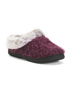 Sparkle Knit Clog Style Slippers