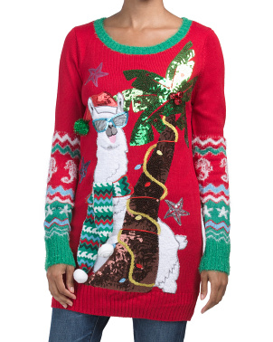 Llama Holiday Sweater Tunic