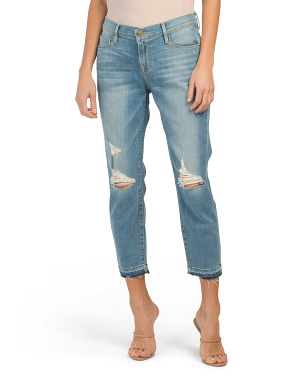 Distressed Cutoff Cropped Jeans