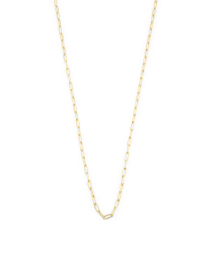 14k Gold Plated Sterling Silver Long Link Delicate Necklace