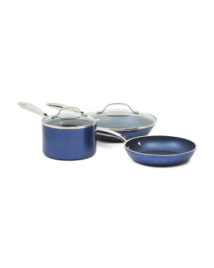 5pc Diamond Infused Nonstick Cookware Set