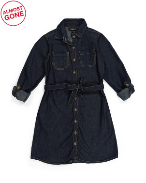 Big Girls Denim Dress