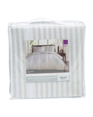 Drew Striped Duvet Set