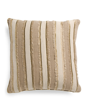 22x22 Linen Blend Beaded Pillow