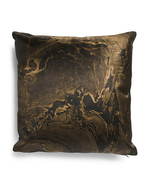 20x20 Haircalf And Leather Marbleized Pillow