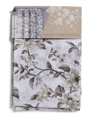 54x84 Set Of 2 Floral Print Curtains