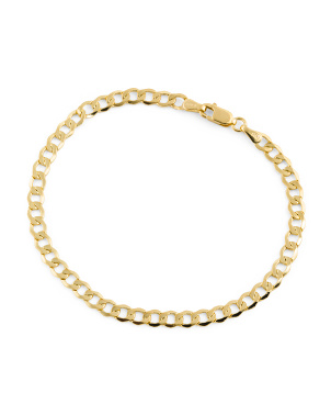 Made In Italy 14k Gold Grumetta Link Bracelet
