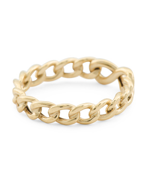Made In Italy 14k Gold Infinity Link Ring