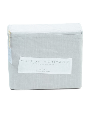 Linen Look Cotton Collection Sheet Set