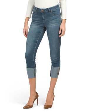 Deep Rolled Cuff Skinny Jeans