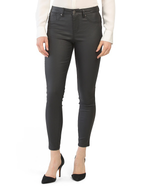 Coated Faux Leather Pants