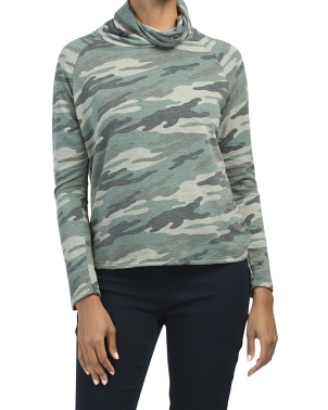 Long Sleeve Camo French Terry Top